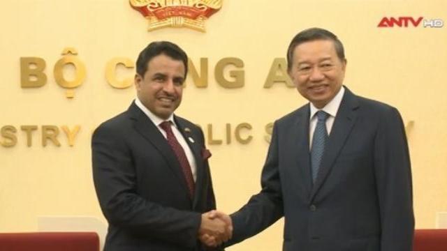 Bộ trưởng Tô Lâm tiếp Đại sứ Các tiểu vương quốc Ả-rập thống nhất