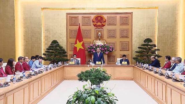 Thủ tướng gặp mặt Đoàn thể thao Việt Nam tham dự ASIAD 2018