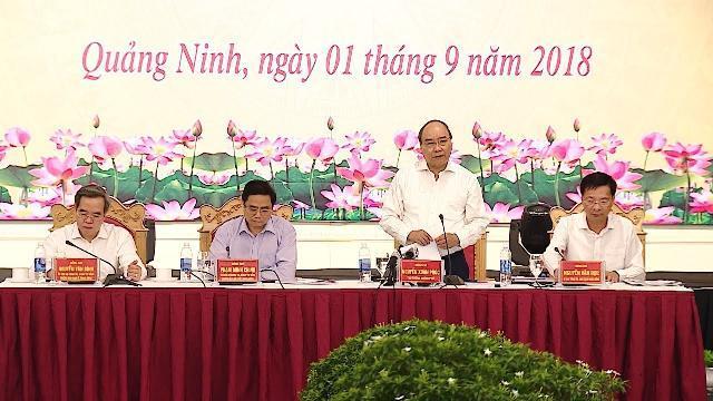 Thủ tướng làm việc với lãnh đạo tỉnh Quảng Ninh