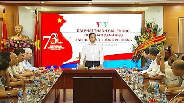 Đồng chí Phạm Minh Chính thăm và làm việc với Đài Tiếng nói Việt Nam