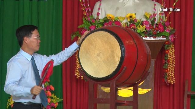 Đồng chí Võ Văn Thưởng dự lễ khai giảng năm học mới tại Ninh Thuận