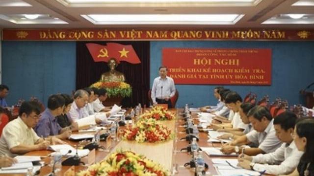 Ban Chỉ đạo T.Ư về phòng chống tham nhũng làm việc tại tỉnh Hòa Bình