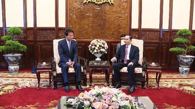 Chủ tịch nước Trần Đại Quang tiếp Đại sứ đặc biệt Việt - Nhật, Nhật - Việt