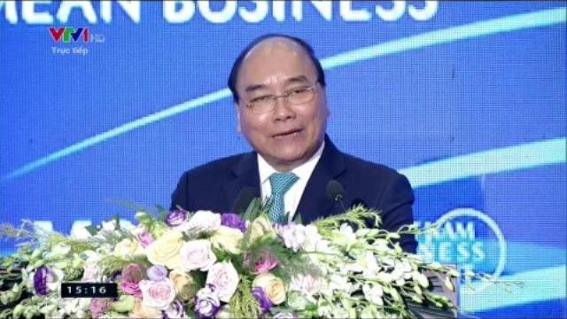 Thủ tướng phát biểu tại hội nghị Thượng đỉnh Kinh doanh Việt Nam