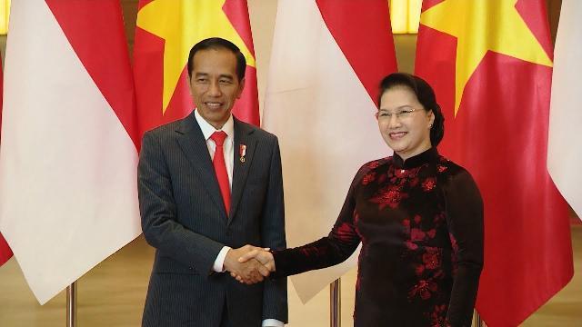 Chủ tịch Quốc hội Nguyễn Thị Kim Ngân hội kiến với Tổng thống Indonesia