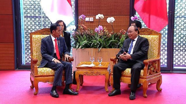 Thủ tướng Nguyễn Xuân Phúc tiếp Tổng thống Indonesia Joko Widodo