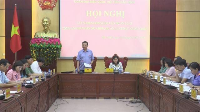 Đoàn ĐBQH tỉnh Bắc Ninh lấy ý kiến vào 2 dự thảo luật
