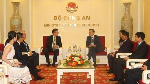 Bộ trưởng Tô Lâm tiếp Chủ tịch Hội đồng kinh doanh Hoa Kỳ - ASEAN
