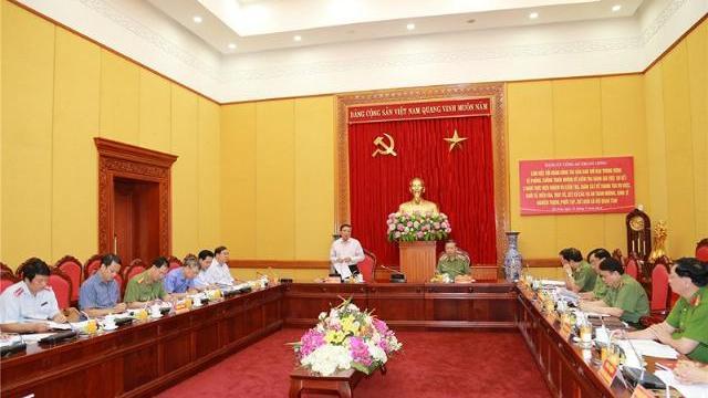 Ban Chỉ đạo Trung ương về phòng, chống tham nhũng làm việc với Bộ Công an