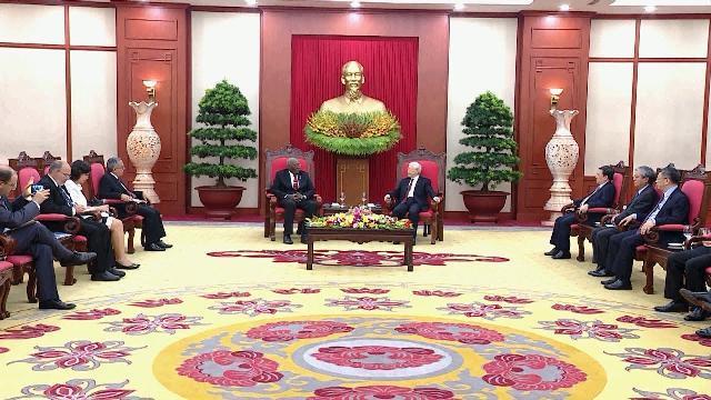 Tổng Bí thư Nguyễn Phú Trọng tiếp Đoàn đại biểu Đảng, Nhà nước Cuba