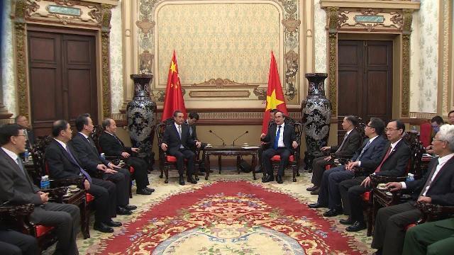 Lãnh đạo TP Hồ Chí Minh tiếp Bộ trưởng Ngoại giao Trung Quốc