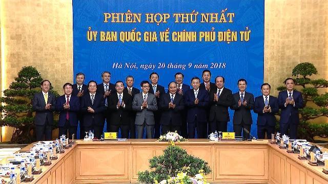 Thủ tướng chủ trì phiên họp thứ nhất Ủy ban Quốc gia về Chính phủ điện tử