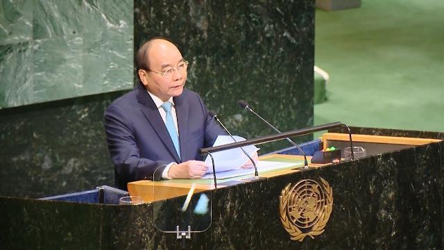 Thủ tướng Nguyễn Xuân Phúc phát biểu tại Phiên thảo luận cấp cao Đại hội đồng Liên hợp quốc khóa 73