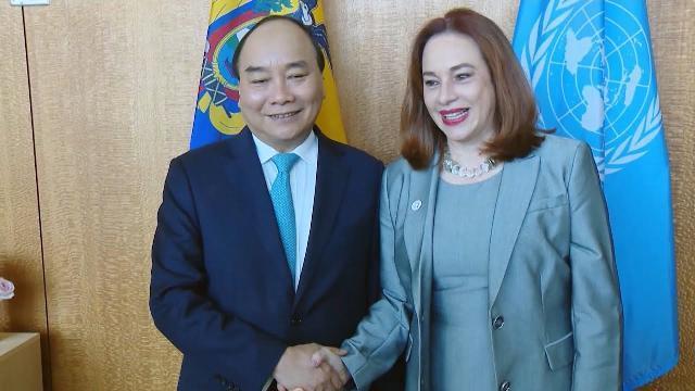 Thủ tướng gặp Chủ tịch Đại hội đồng LHQ, Tổng Thư ký LHQ, Chủ tịch Hội đồng NN và Bộ trưởng Cuba