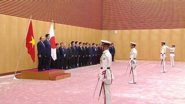 Lễ đón chính thức Thủ tướng Nguyễn Xuân Phúc tại Tokyo, Nhật Bản