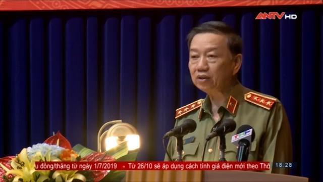 Bộ trưởng Tô Lâm thăm và làm việc tại Công an Thành phố Hải Phòng