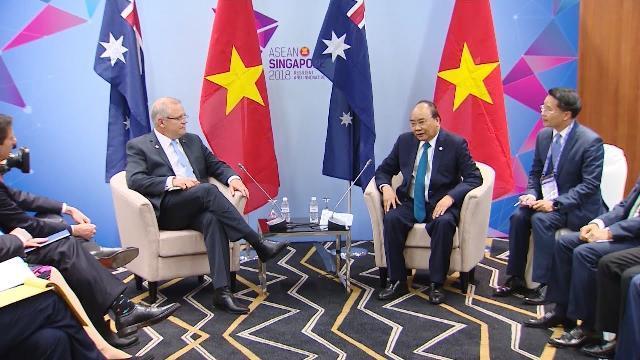 Thủ tướng Nguyễn Xuân Phúc tiếp Thủ tướng Australia