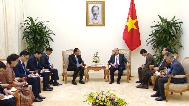 Thủ tướng tiếp Phó Thủ tướng, Bộ trưởng Ngoại giao và Hợp tác quốc tế Campuchia