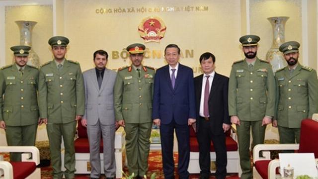 Bộ trưởng Tô Lâm tiếp Đoàn đại biểu cấp cao lực lượng Vệ binh Quốc gia KuwaitBộ trưởng Tô Lâm tiếp Đoàn đại biểu cấp cao lực lượng Vệ binh Quốc gia Kuwait