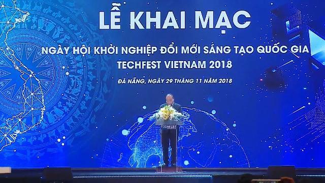 Thủ tướng Chính phủ Nguyễn Xuân Phúc dự Lễ khai mạc Techfest 2018 tại TP Đà Nẵng