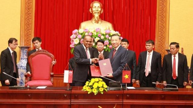 Việt Nam – Singapore đẩy mạnh hợp tác phòng, chống tội phạm