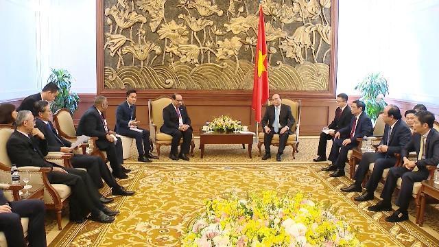 Thủ tướng tiếp các nhà đầu tư dự án Liên hợp Lọc hóa dầu Nghi Sơn