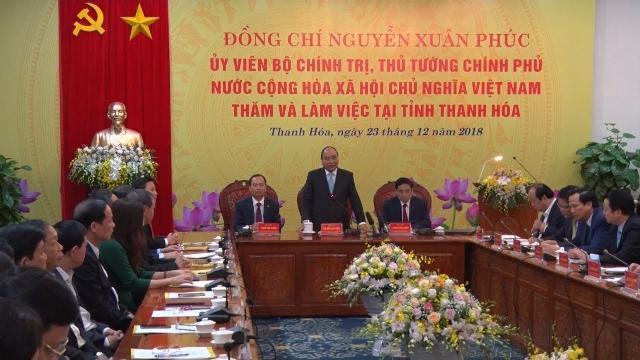 Thủ tướng Nguyễn Xuân Phúc thăm và làm việc với tỉnh Thanh Hóa