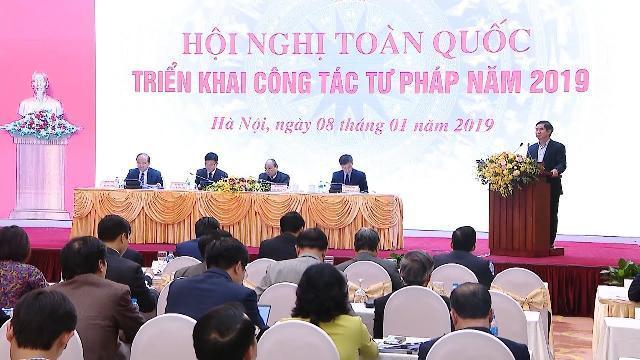 Thủ tướng tham dự Hội nghị toàn quốc triển khai công tác tư pháp năm 2019