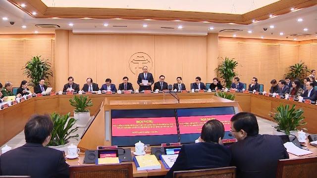 Thủ tướng làm việc với Ban Thường vụ Thành ủy Hà Nội