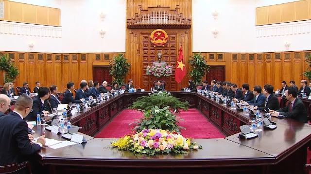 Thủ tướng Nguyễn Xuân Phúc tiếp Đoàn doanh nghiệp Mỹ