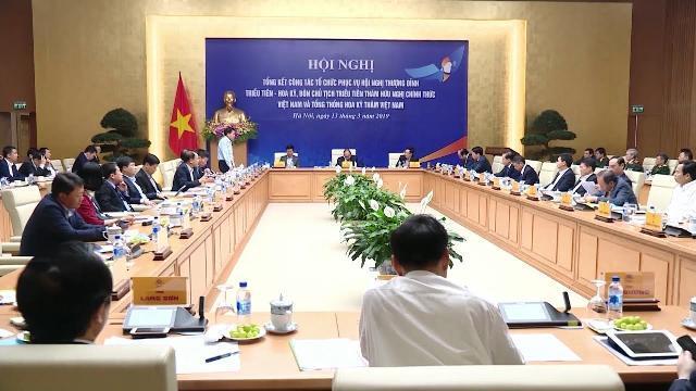 Thủ tướng chủ trì Hội nghị tổng kết công tác phục vụ Hội nghị Thượng đỉnh Hoa Kỳ - Triều Tiên