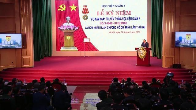 Thủ tướng dự Lễ kỷ niệm 70 năm Ngày Truyền thống Học viện Quân y