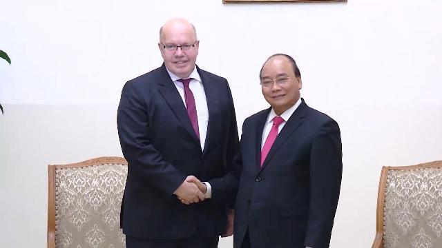 Thủ tướng Nguyễn Xuân Phúc tiếp Bộ trưởng Kinh tế và Năng lượng CHLB Đức