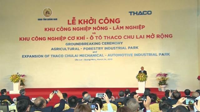 Thủ tướng Nguyễn Xuân Phúc dự Lễ khởi công các dự án trọng điểm tại Khu kinh tế mở Chu Lai