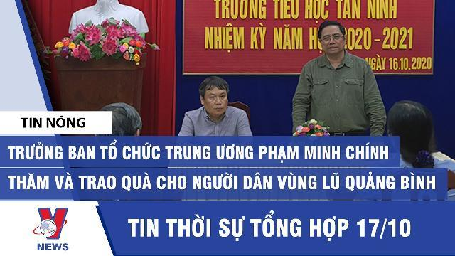 Trưởng Ban Tổ chức Trung ương Phạm Minh Chính thăm và trao quà cho người dân vùng lũ Quảng Bình