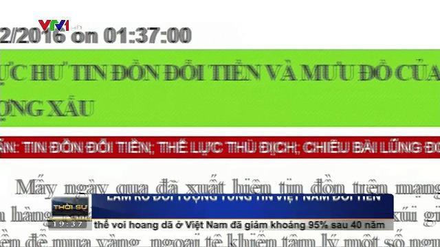 Làm rõ đối tượng tung tin Việt Nam đổi tiền