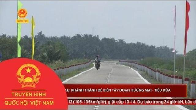 Cà Mau: Khánh thành đê biển tây đoạn Hương Mai - Tiểu Dừa