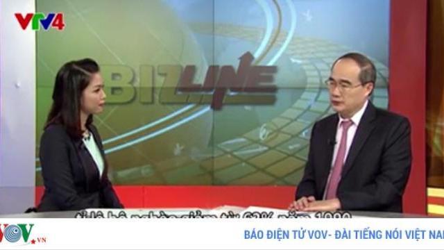Ông Nguyễn Thiện Nhân phân tích thành quả đổi mới bằng tiếng Anh