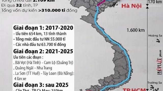 Lộ trình xây cao tốc Bắc - Nam 15 tỷ USD