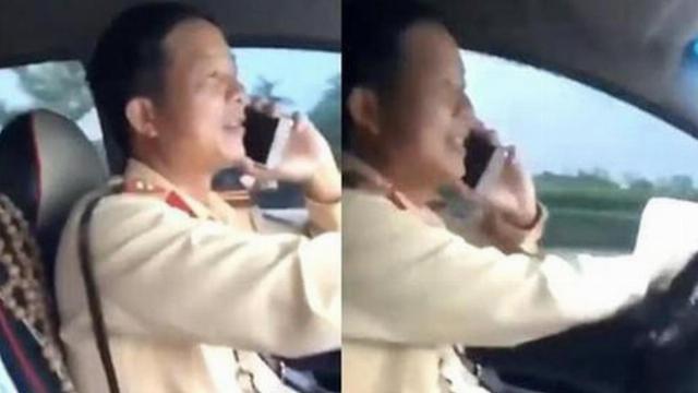 Clip CSGT vừa lái xe vừa nghe điện thoại