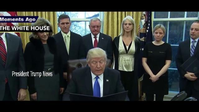 Breaking News: Tổng thống Donald Trump ký hàng loạt sắc lệnh hành pháp