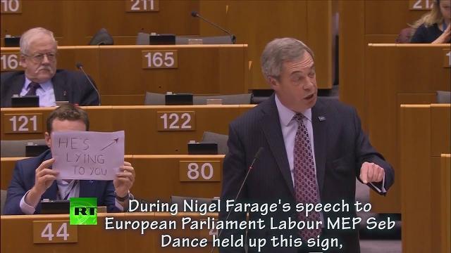 Thành viên của Nghị viện châu Âu: Ông ta đang nói láo