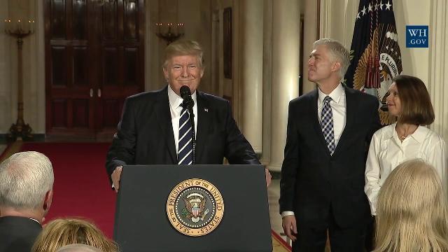 Trump đề cử thẩm phán thẩm phán Neil Gorsuch vào tòa án tối cao Mỹ