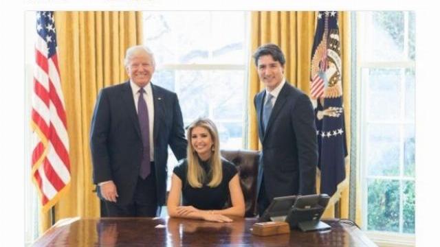 Tiểu thư nhà Trump bị chỉ trích vì ngồi ghế Tổng thống