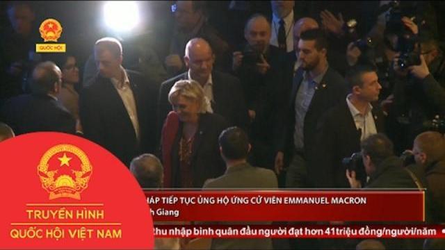 Dư luận Pháp tiếp tục ủng hộ ứng cử viên Emmanuel Macron