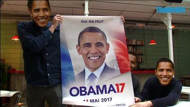 Dân Paris muốn ông Obama tranh cử tổng thống Pháp
