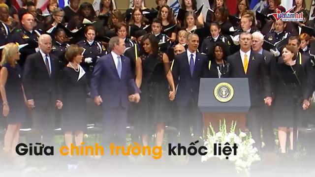 Cựu tổng thống Bush 'trải lòng' về tình bạn với vợ Obama