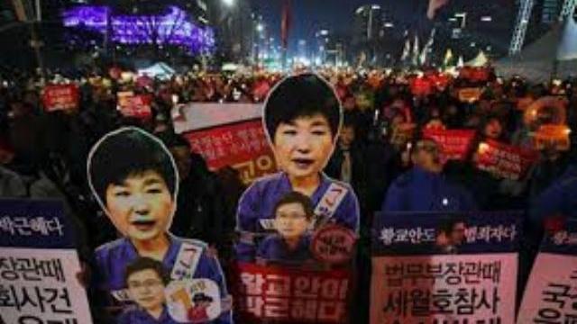 Triệu người biểu tình phế truất tổng thống Hàn Quốc