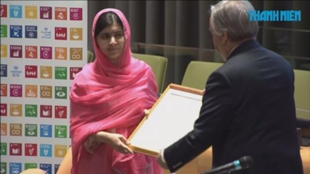 Chủ nhân giải Nobel 17 tuổi được Liên Hiệp Quốc vinh danh
