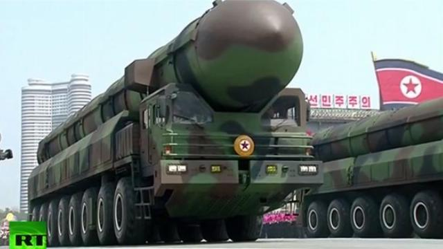 LIVE- Triều Tiên duyệt binh lớn nhất lịch sử đáp trả Mỹ -Military-Parade-2017--105th--Anniversary-of-Kim-Il-Sung